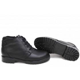 Дамски боти - естествена кожа - черни - EO-16778
