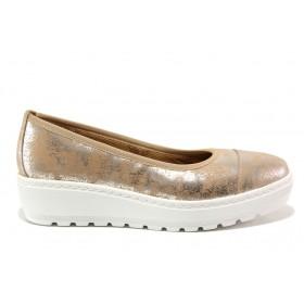 Дамски обувки на платформа - естествена кожа - розови - EO-15209