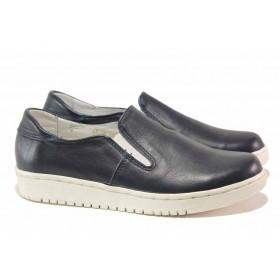Равни дамски обувки - естествена кожа - червени - EO-15769