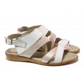 Дамски сандали - естествена кожа - черни - EO-15907