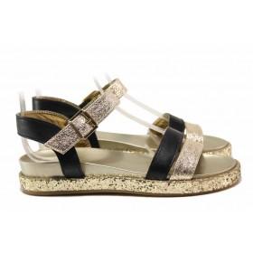 Дамски сандали - естествена кожа - жълти - EO-15953