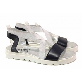 Дамски сандали - естествена кожа - бели - EO-15969