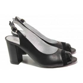 Дамски сандали - естествена кожа - сини - EO-16163