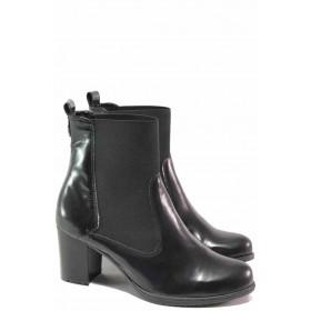 Дамски боти - естествена кожа - черни - EO-16534