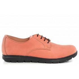 Равни дамски обувки - естествена кожа - розови - EO-16762