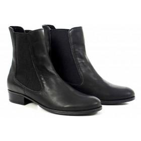 Дамски боти - естествена кожа - черни - EO-16910