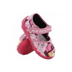Детски обувки - висококачествен текстилен материал - розови - EO-15653