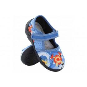 Детски обувки - висококачествен текстилен материал - сини - EO-15654