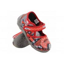 Детски обувки - висококачествен текстилен материал - червени - EO-15655