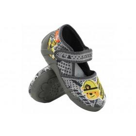 Детски обувки - висококачествен текстилен материал - сиви - EO-15656