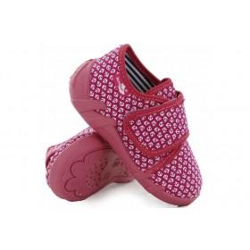 Детски обувки - висококачествен текстилен материал - розови - EO-15658