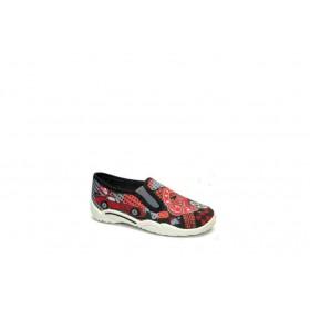 Детски обувки - висококачествен текстилен материал - червени - EO-15661