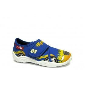 Детски обувки - висококачествен текстилен материал - сини - EO-15662