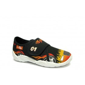 Детски обувки - висококачествен текстилен материал - черни - EO-15663
