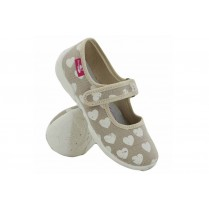 Детски обувки - висококачествен текстилен материал - бежови - EO-15668