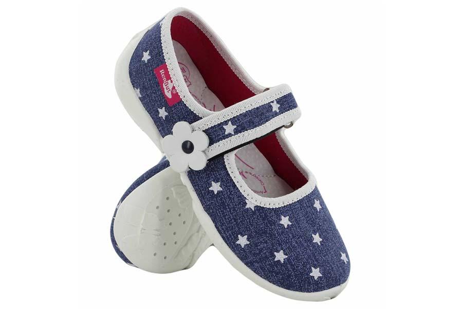 Детски обувки - висококачествен текстилен материал - сини - EO-15666