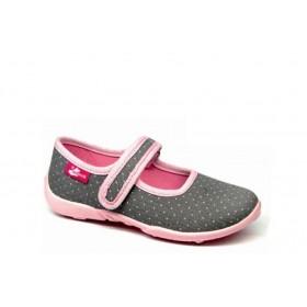 Детски обувки - висококачествен текстилен материал - сиви - EO-15665