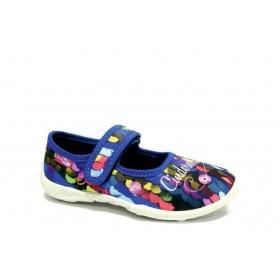 Детски обувки - висококачествен текстилен материал - сини - EO-15664