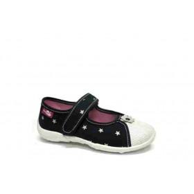 Детски обувки - висококачествен текстилен материал - сини - EO-15669
