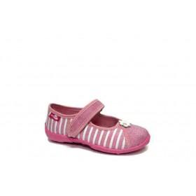 Детски обувки - висококачествен текстилен материал - розови - EO-15670
