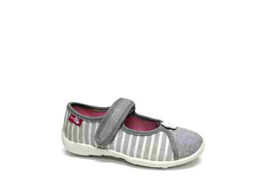 Детски обувки - висококачествен текстилен материал - сребро - EO-15671