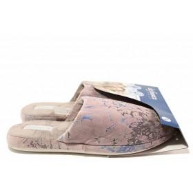 Домашни чехли - висококачествен текстилен материал - розови - EO-17025