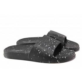 Дамски чехли - висококачествен pvc материал - черни - EO-15700