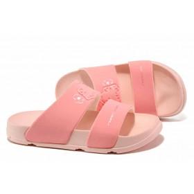 Дамски чехли - висококачествен pvc материал - розови - EO-15703