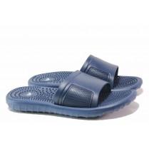 Джапанки - висококачествен pvc материал - сини - EO-15994