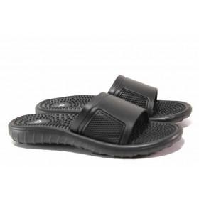 Джапанки - висококачествен pvc материал - черни - EO-15993