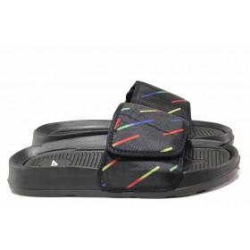 Джапанки - висококачествен текстилен материал - черни - EO-15996
