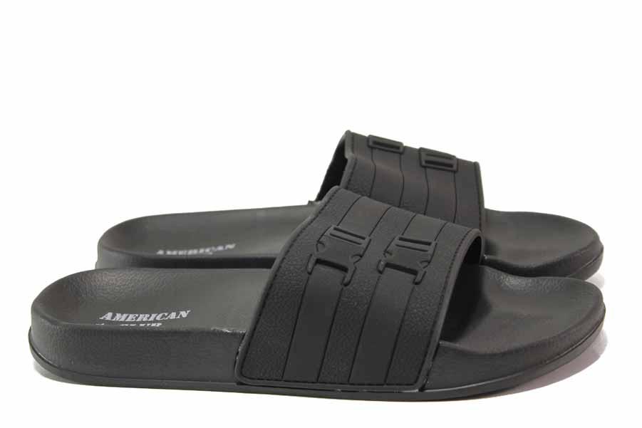 Джапанки - висококачествен pvc материал - черни - EO-15998