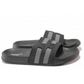 Джапанки - висококачествен pvc материал - черни - EO-15979