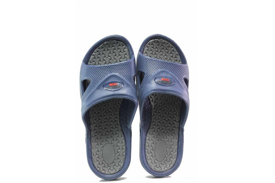 Джапанки - висококачествен pvc материал - сини - EO-16000