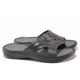 Джапанки - висококачествен pvc материал - черни - EO-15999