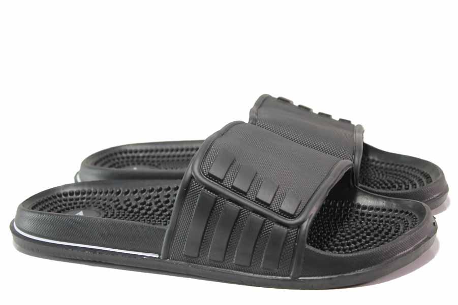 Джапанки - висококачествен pvc материал - черни - EO-16002