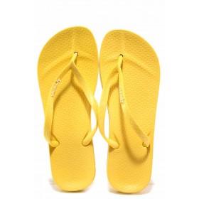 Джапанки - висококачествен pvc материал - жълти - EO-16043