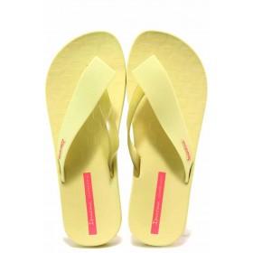 Джапанки - висококачествен pvc материал - жълти - EO-16041