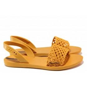 Дамски сандали - висококачествен pvc материал - оранжеви - EO-16052
