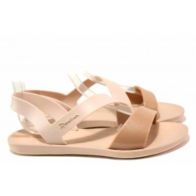 Дамски сандали - висококачествен pvc материал - розови - EO-16032