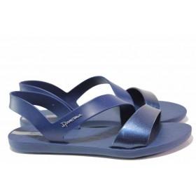 Дамски сандали - висококачествен pvc материал - сини - EO-16033