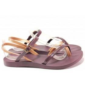 Дамски сандали - висококачествен pvc материал - лилави - EO-16035