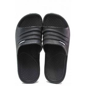 Джапанки - висококачествен pvc материал - черни - EO-16699