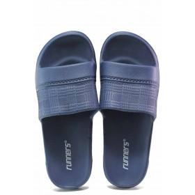 Джапанки - висококачествен pvc материал - сини - EO-16695