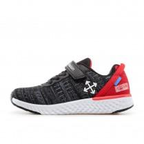 Детски маратонки - висококачествен текстилен материал - черни - EO-17407