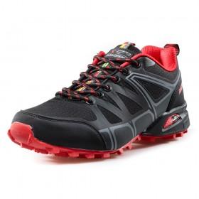 Юношески маратонки - висококачествен текстилен материал - черни - EO-17294