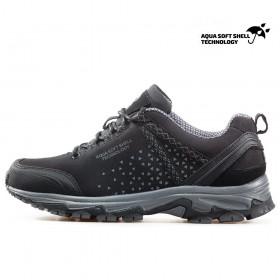 Юношески маратонки - висококачествен текстилен материал - черни - EO-17352