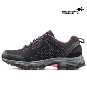 Юношески маратонки - висококачествен текстилен материал - черни - EO-17353