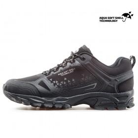 Спортни мъжки обувки - висококачествен текстилен материал - черни - EO-17351