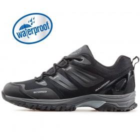 Мъжки маратонки - висококачествен текстилен материал - черни - EO-17367